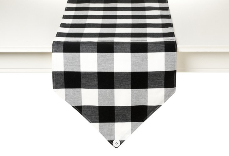 Buffalo Check Table Runner, Black