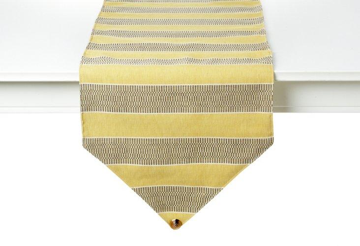Yellow Wide Stripe Runner