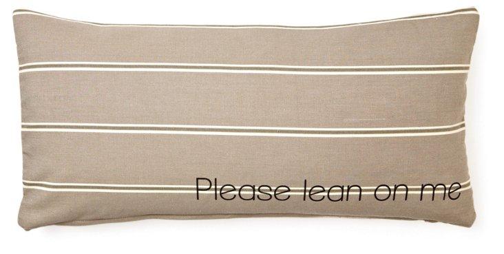 """Lean on Me"" 12x24 Pillow, Millstone"