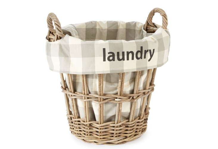 """Laundry"" Check Basket, Small"