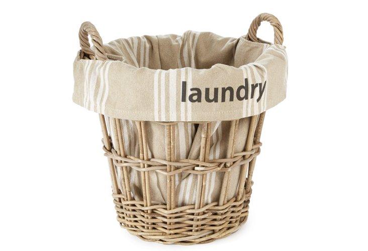 """Laundry"" Stripe Basket"