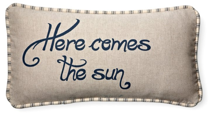 Here Comes 10x20 Pillow, Natural