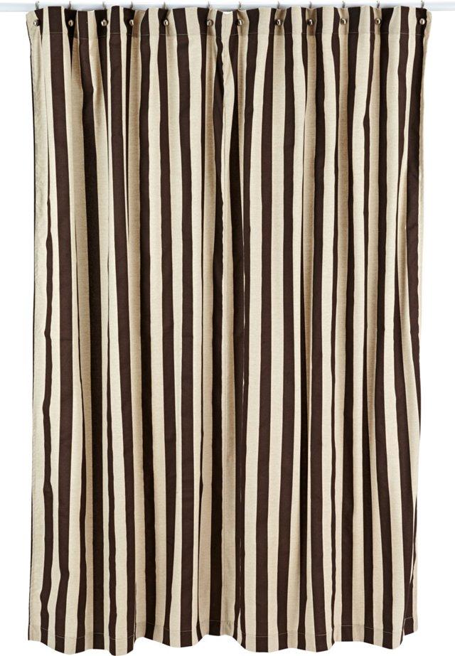 Stripe Shower Curtain, Brown
