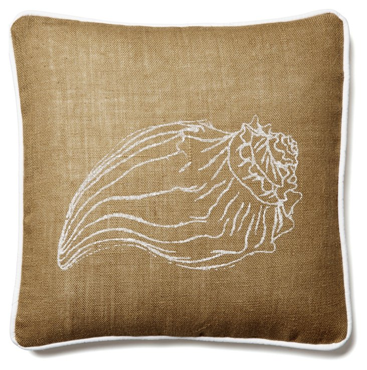 Shell 20x20 Jute Pillow, Natural