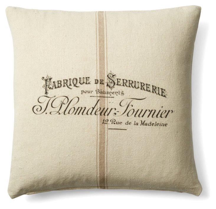 Fabrique 20x20 Cotton Pillow, Natural