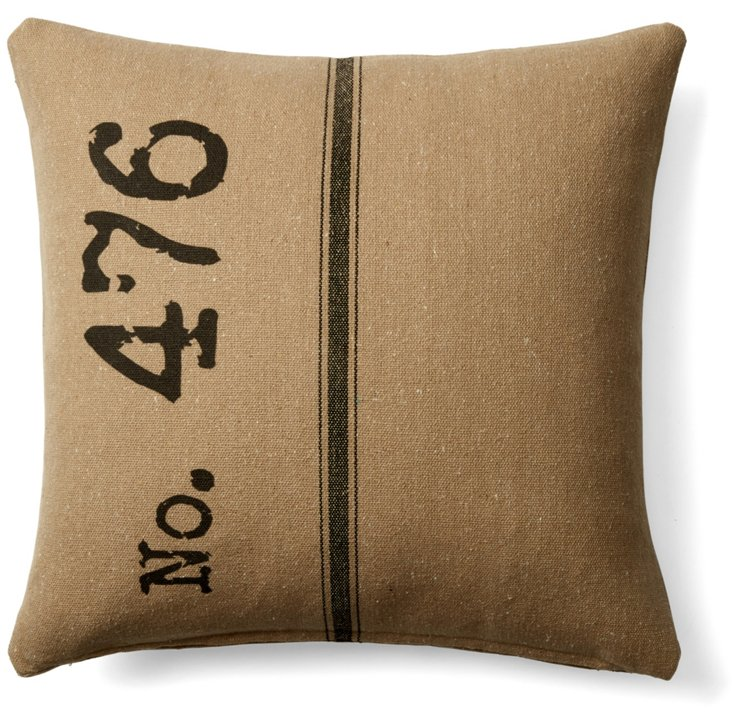 No.476 20x20 Cotton Pillow, Black