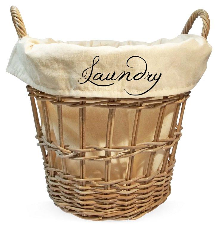 """Laundry"" Cream Basket, Small"