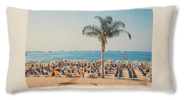 Cannes Beach 10x20 Pillow, Ivory