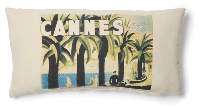 Cannes Post 10x20 Pillow, Natural