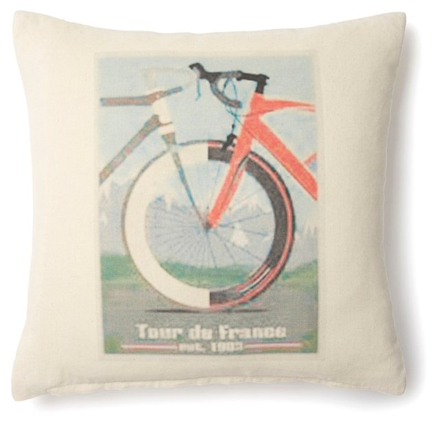 France Poster 20x20 Pillow, Natural