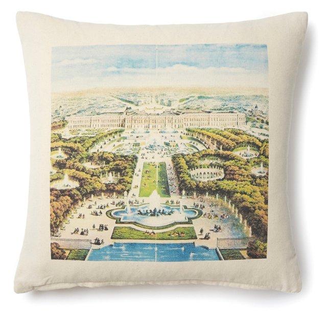 Versailles Palace 20x20 Pillow, Natural
