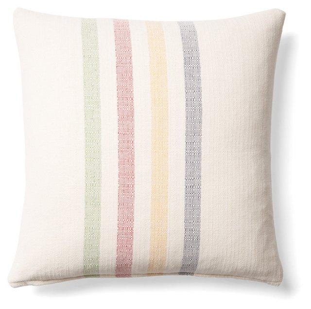 Stripes 20x20 Linen Pillow, Multi
