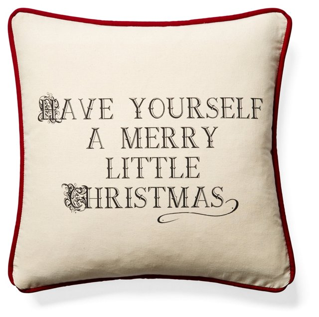 Have Yourself 20x20 Pillow, Beige