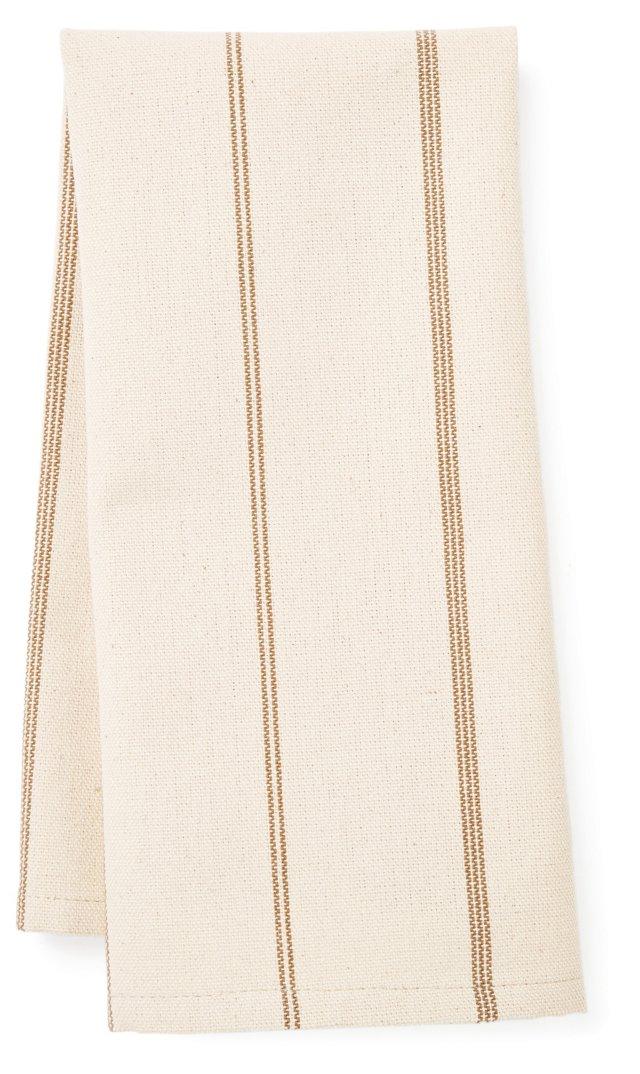 S/2 Striped Tea Towels, Natural