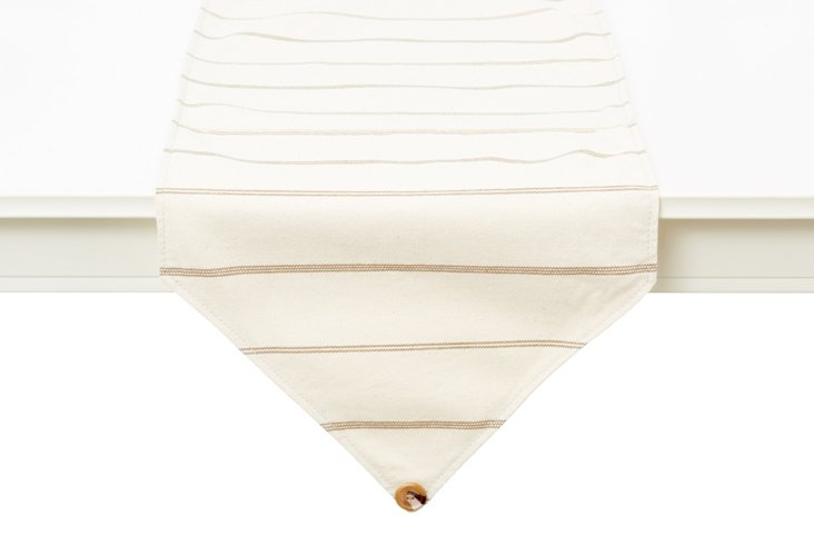 Striped Table Runner, Natural