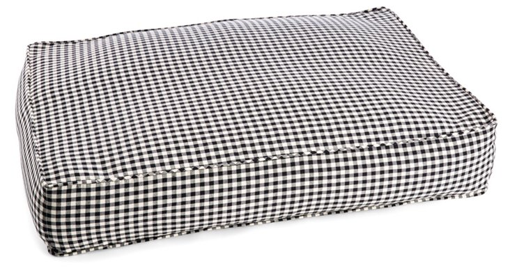 Large Check Pet Bed, Black/White