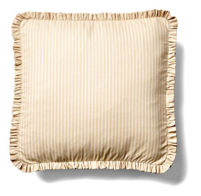 Frill 20x20 Cotton Pillow, Natural