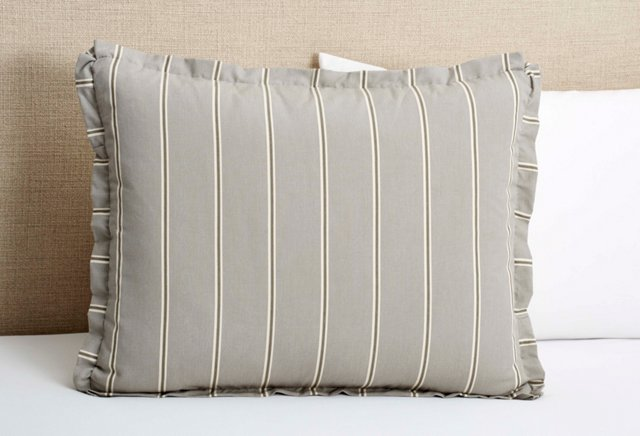 Millstone Stripe Sham, Gray