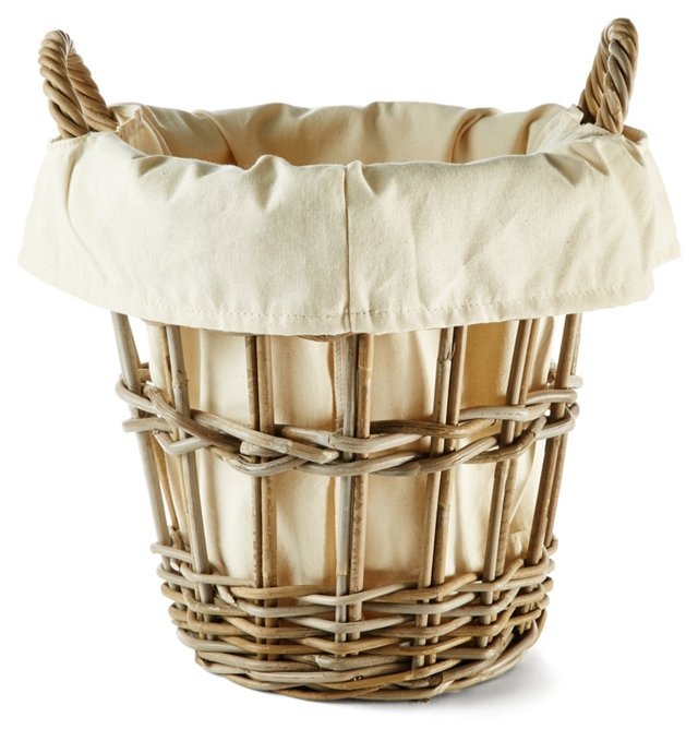 Wicker Basket, Cream
