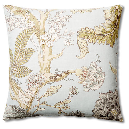 Floral 20x20 Pillow, Spa