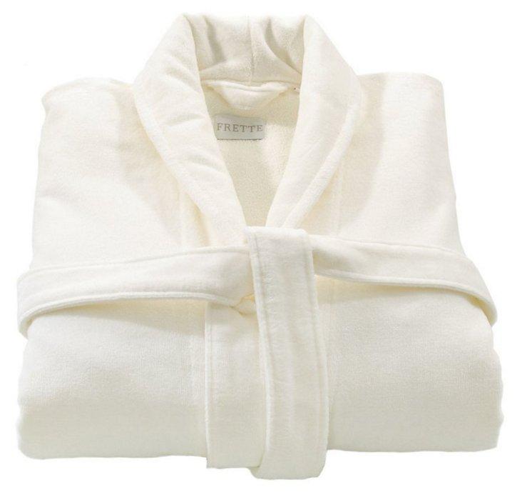 Oversize Shawl Collar Robe, White