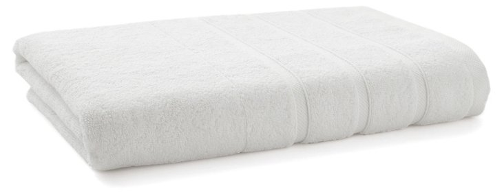 Lanes Bath Towel, White