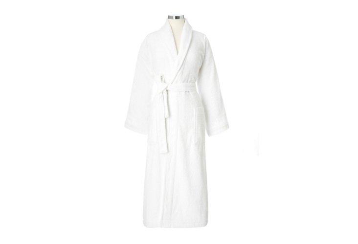 L/XL Terry Shawl Collar Robe, White