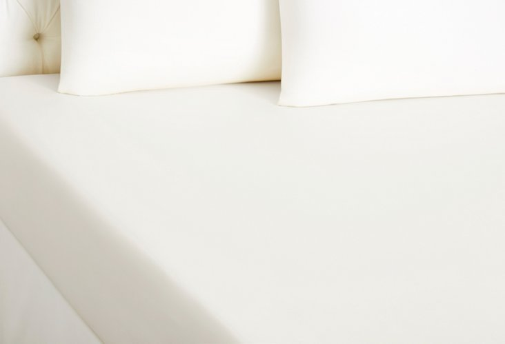 Qn Popeline Fitted Bottom Sheet, White