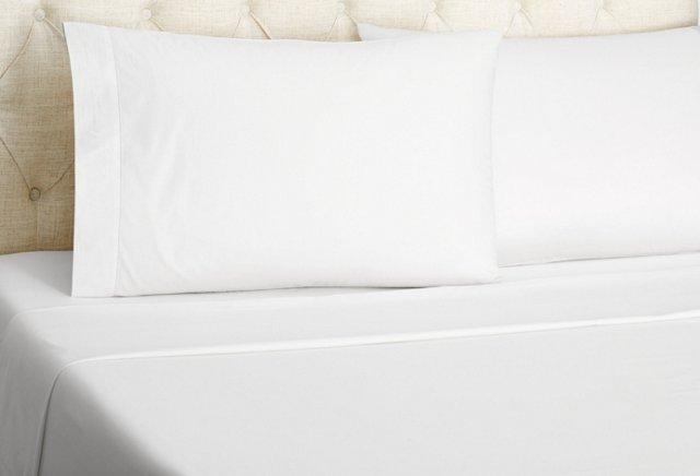 Luxe Percale Sheet Set, White
