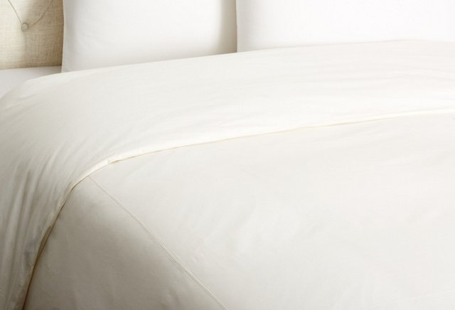 Luxe Percale Duvet, Ivory