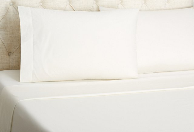 Luxe Percale Sheet Set, Ivory
