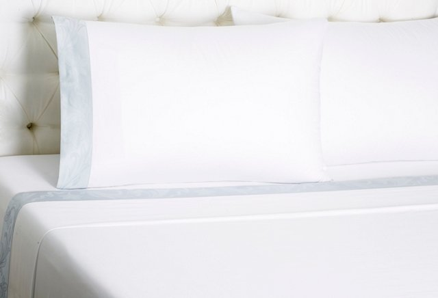 Fiore Bedset, White/Lt Blue