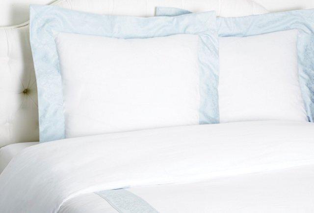 King Turandot Duvet Set, White/Blue