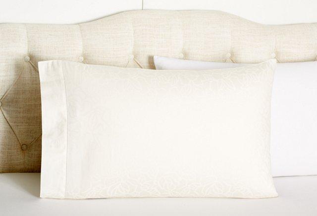 Nirvana Jacquard Kg Pillowcase, Daffodil