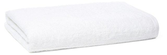 Pique Border Bath Sheet, White