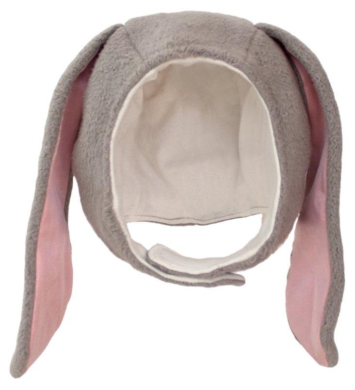 Medium Bunny Picnic Pal Beanie, Gray