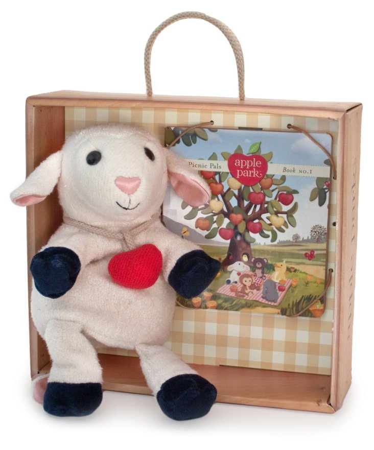 Lamby Hand Puppet Gift Crate