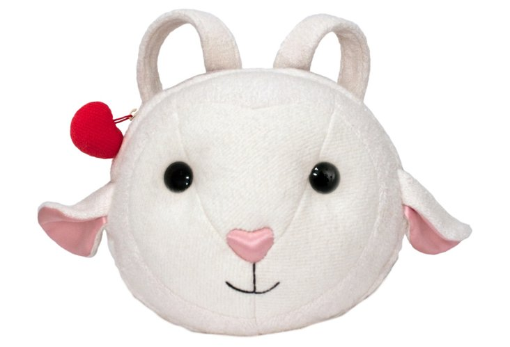 Baby Lamb Backpack, White