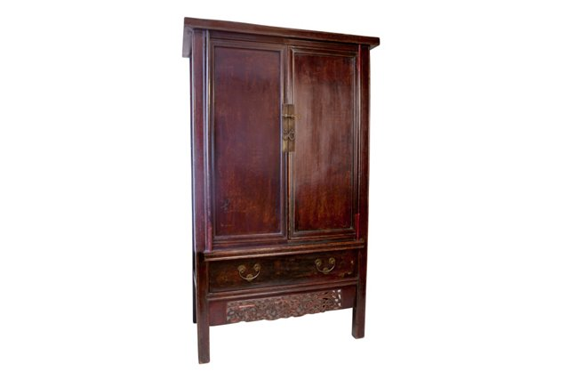 Avery Shanxi Cabinet, Dark Cherry