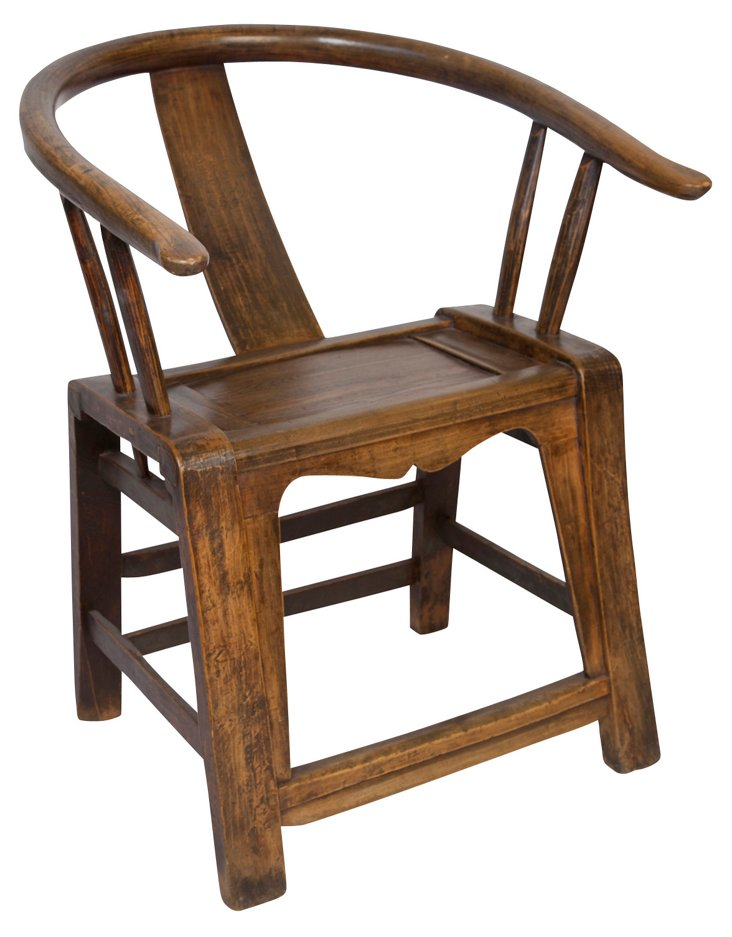 Shanxi Horse Shoe Chair, Pecan