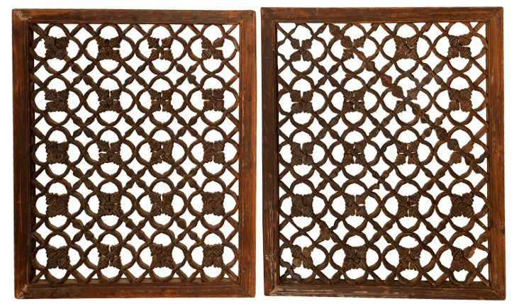 Carved Screens, Pair