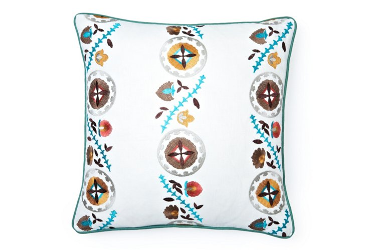 Embroidered Trail 20x20 Pillow, Multi