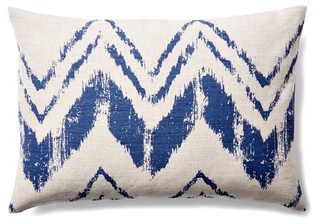 Brush Stroke 14x20 Linen Pillow, Indigo