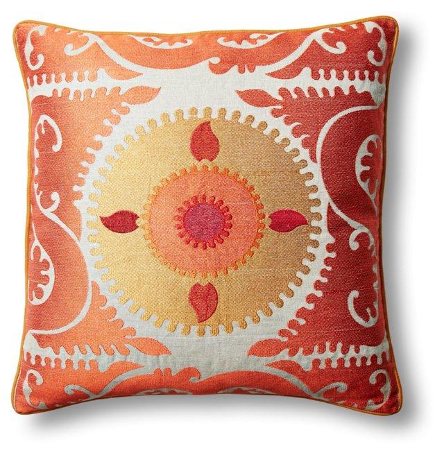 DNU 20x20 Embroidered Pillow, Orange