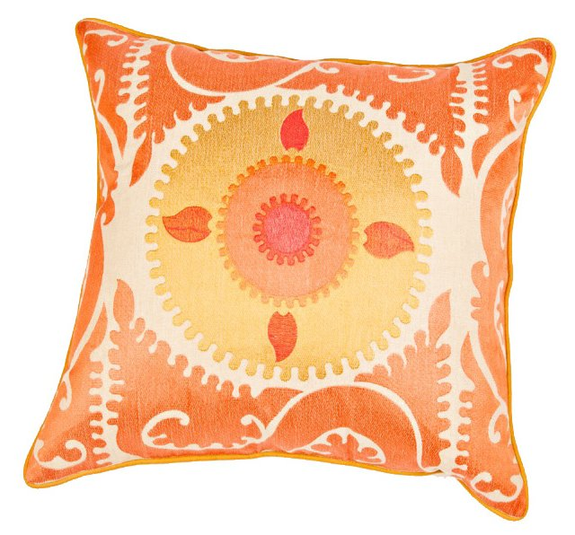 Matia 20x20 Embroidered Pillow, Multi