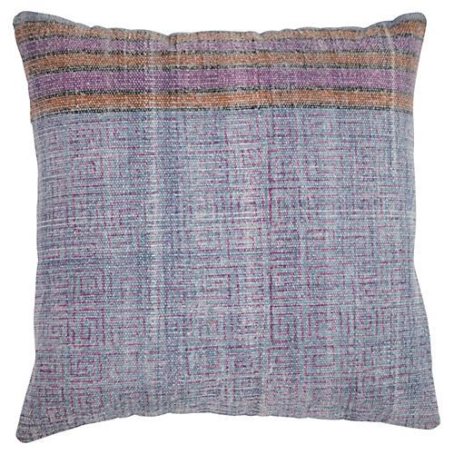 Lauren 20x20 Cotton Pillow, Blue