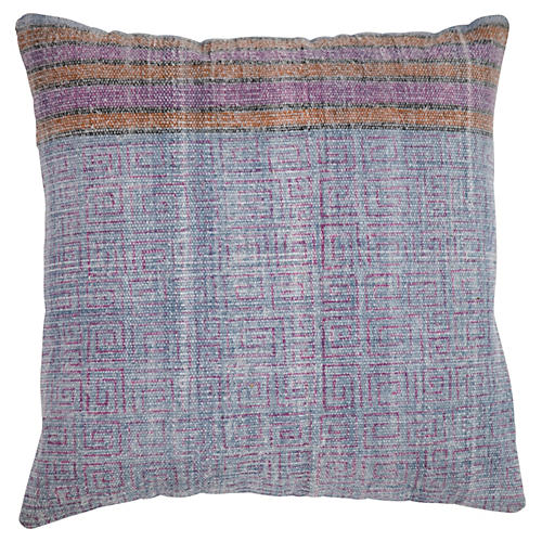 Lauren 20x20 Cotton Pillow, Blue