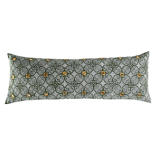Zali 14x40 Cotton Pillow, Moss
