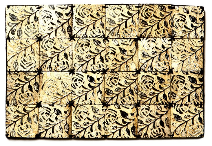 """11x18"""" Burnished Horn Table Mat"""