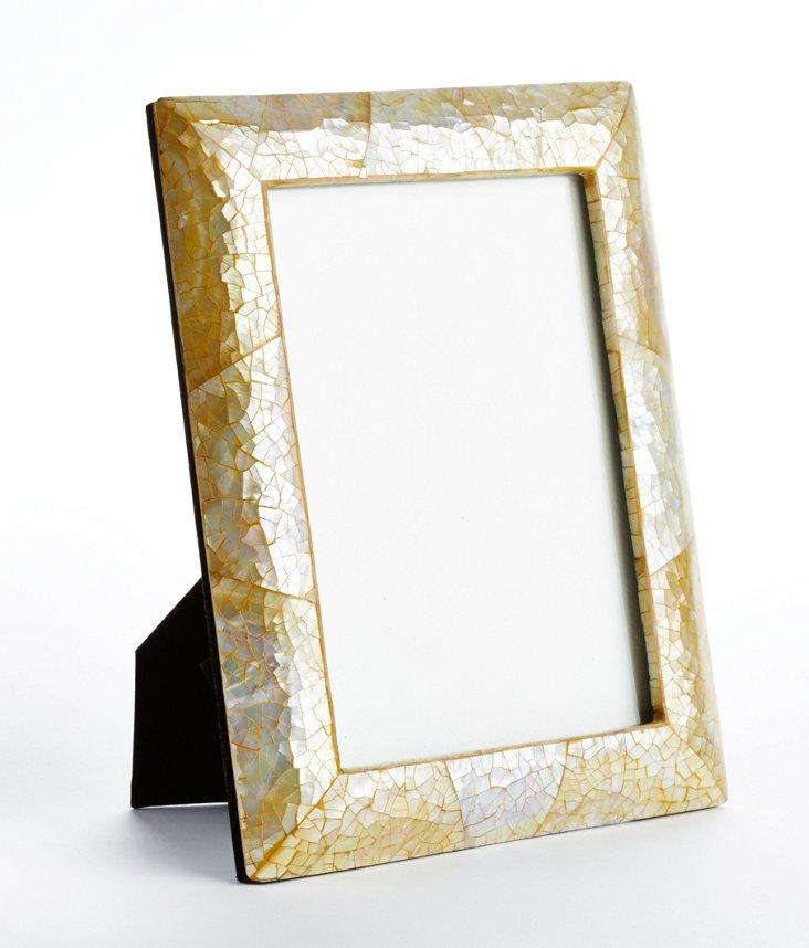 5x7 Golden Crackled MOP Frame